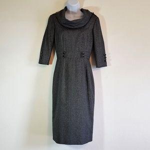 Antonio Melani Grey & Black Herringbone Dress